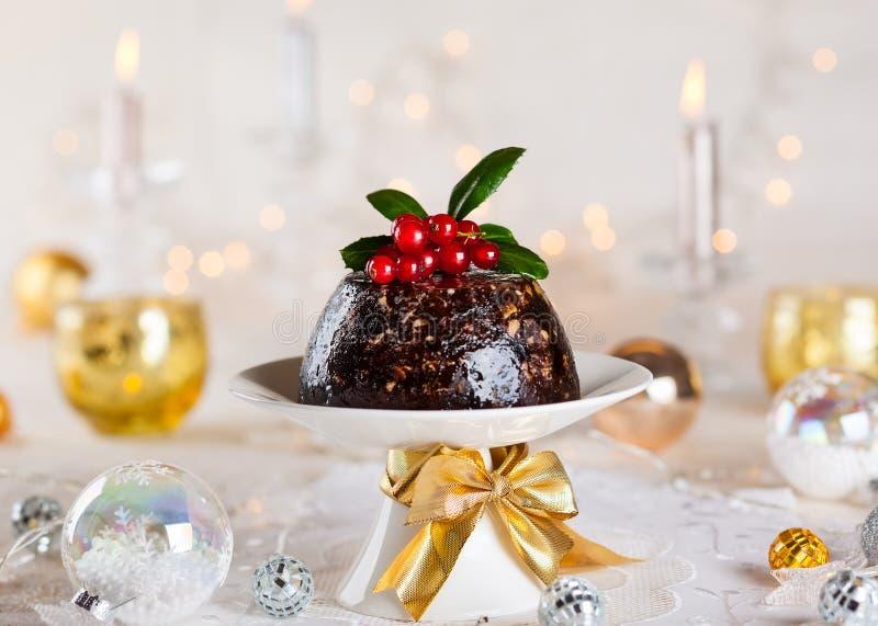 Christmas pudding royalty free stock photos
