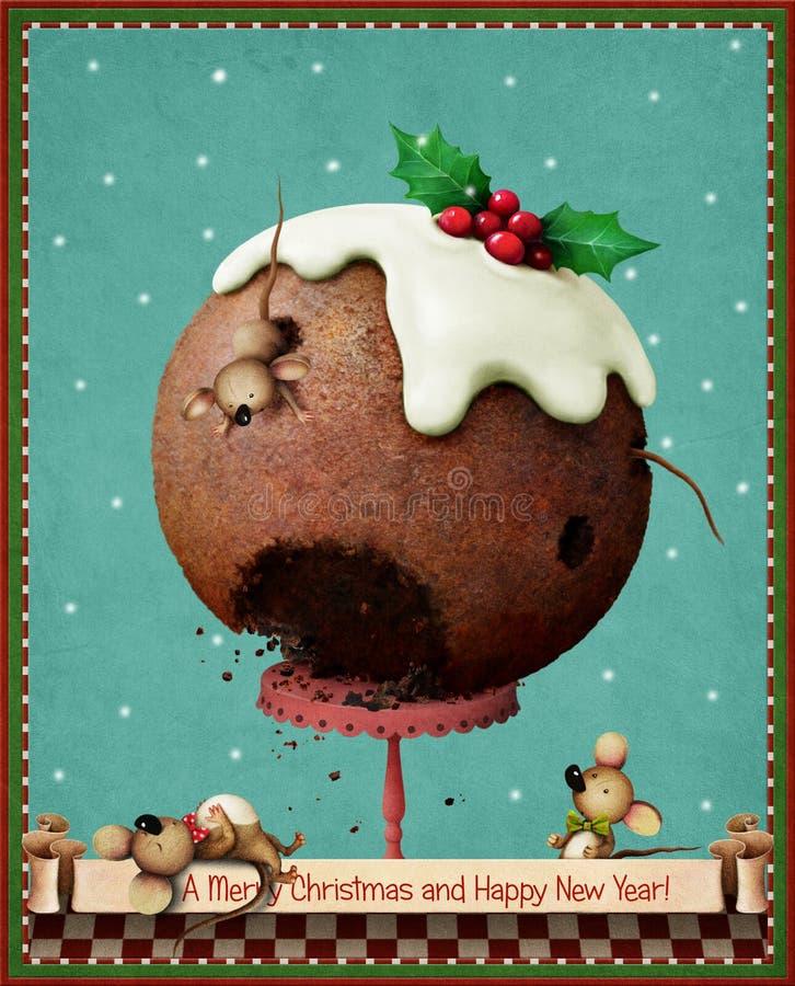 Christmas pudding stock illustration