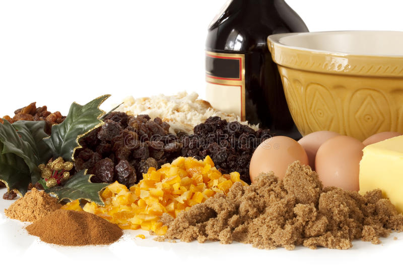 Download Christmas Pudding Ingredients Stock Photo - Image of bake, mixed: 10446566