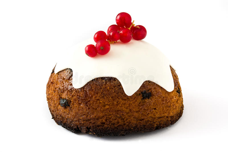 Christmas pudding isolated royalty free stock photography