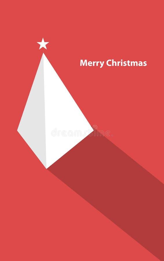 Christmas pyramid tree royalty free illustration