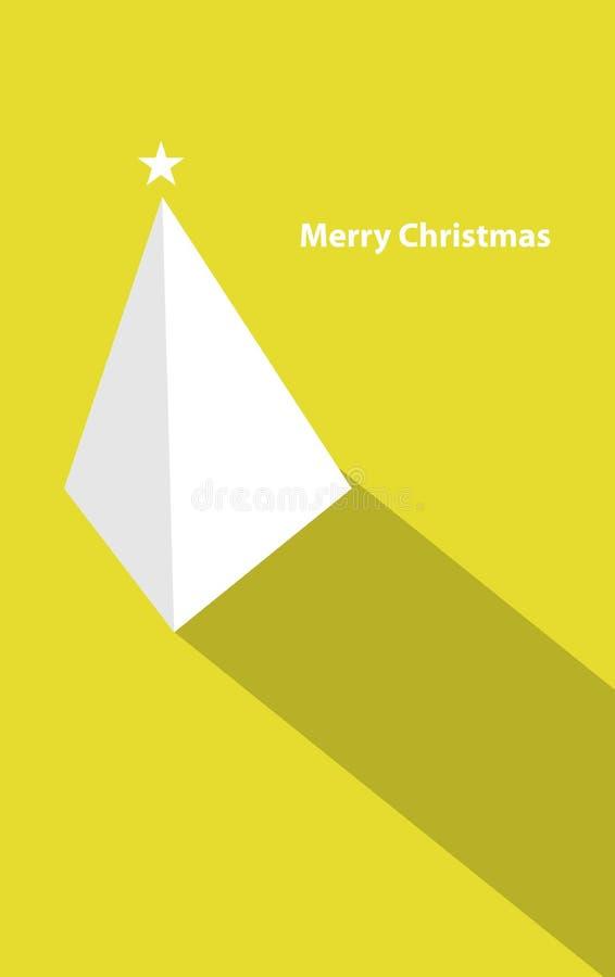 Christmas pyramid tree vector illustration
