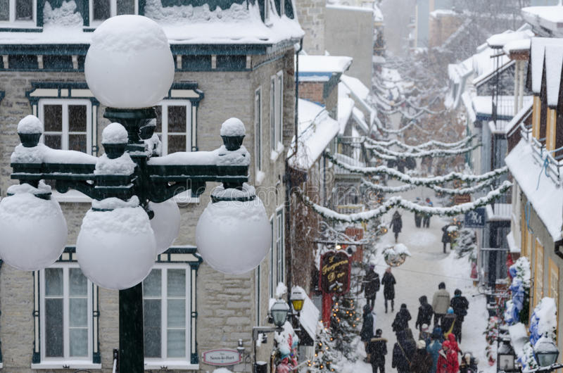 Christmas in Quebec royalty free stock image
