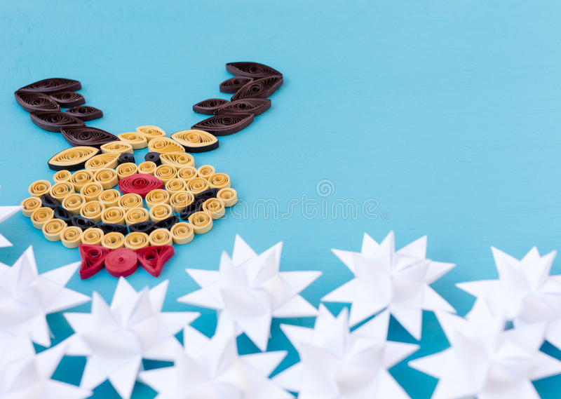 Christmas quiling decoration elements stock photos