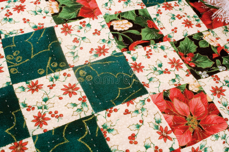 Download Christmas Quilt stock image. Image of made, homemade, cream - 1676069