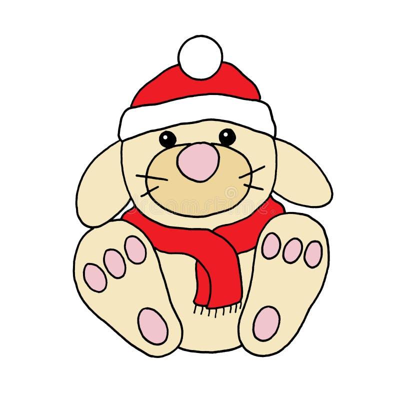 Christmas rabbit stock image