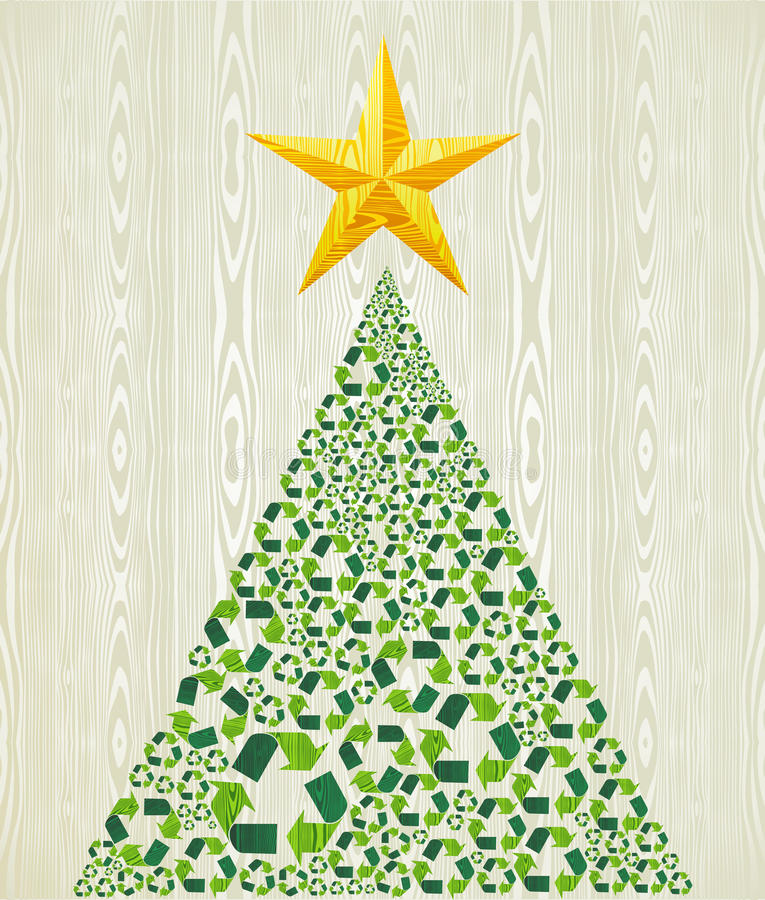 Christmas recycle pine tree vector illustration