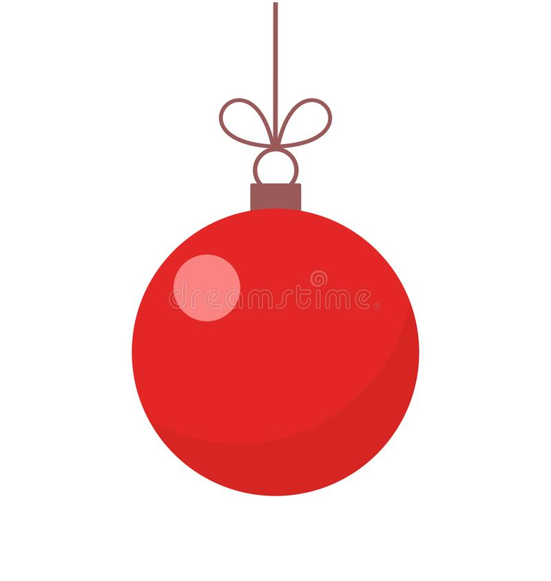 Free Christmas Red Ball Ornament Stock Photo - 101551340