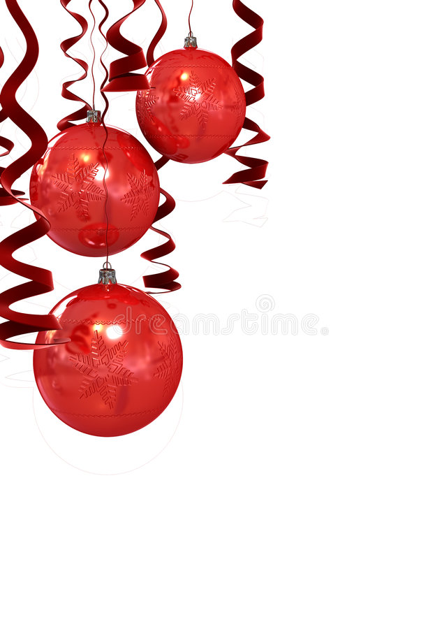 Download Christmas Red Balls Stock Illustration Of Design