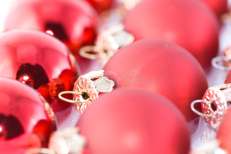 Christmas red balls stock images
