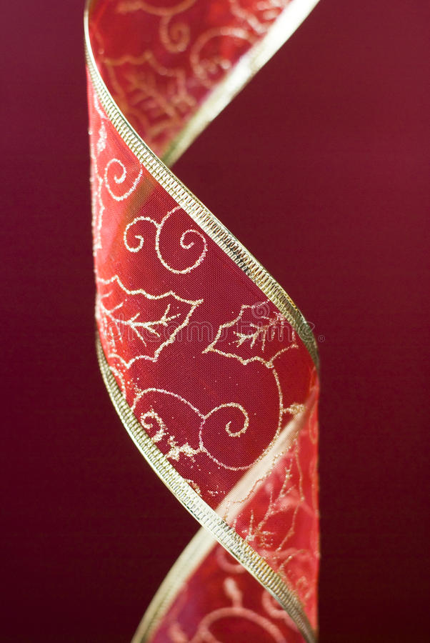 Christmas red band decoration royalty free stock photo