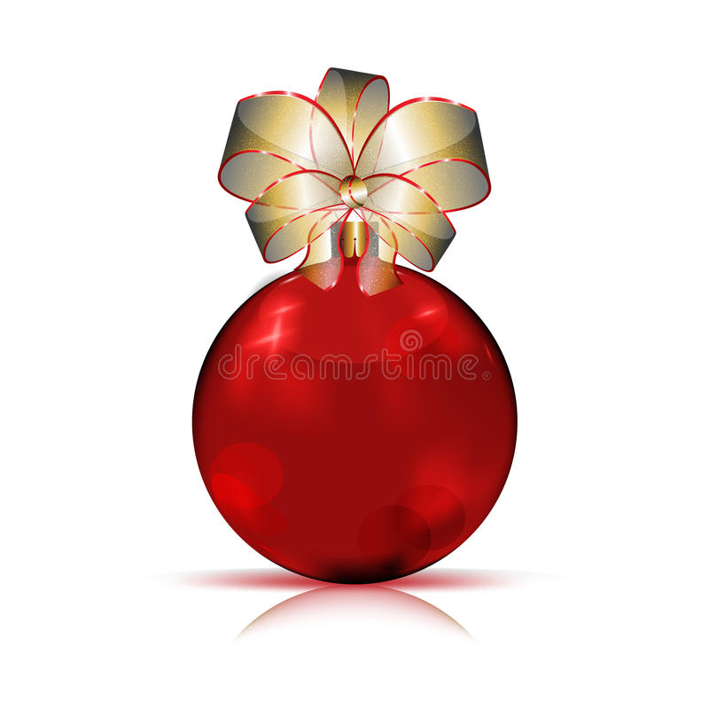 Download Christmas red bauble stock vector. Image of modern, object - 22107559