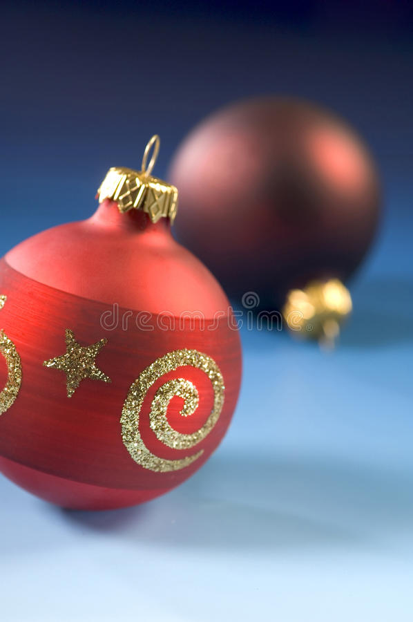 Download Christmas Red Baubles Close-up Stock Image - Image: 10454159