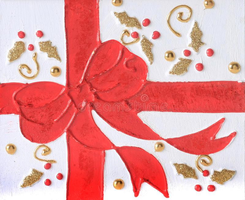 Christmas red bow stock image