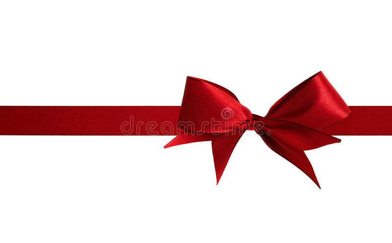 Christmas Red Bow Royalty Free Stock Image
