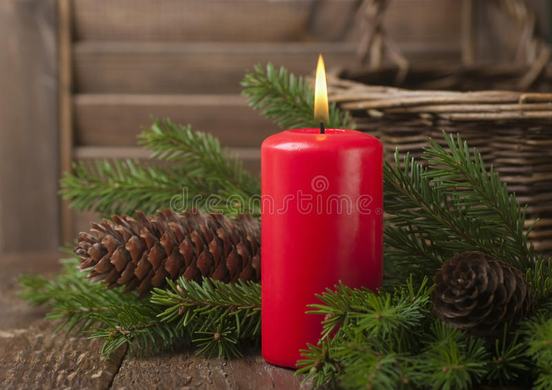 Download Christmas Red Candle Stock Photography - Image: 22067242