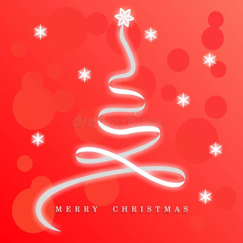 Red christmas background with christmas tree royalty free stock image