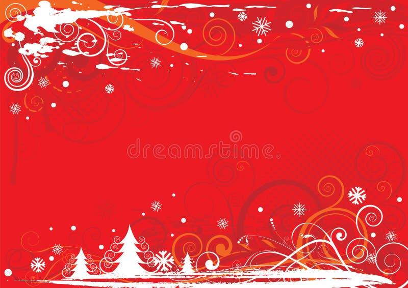 Christmas red design royalty free illustration