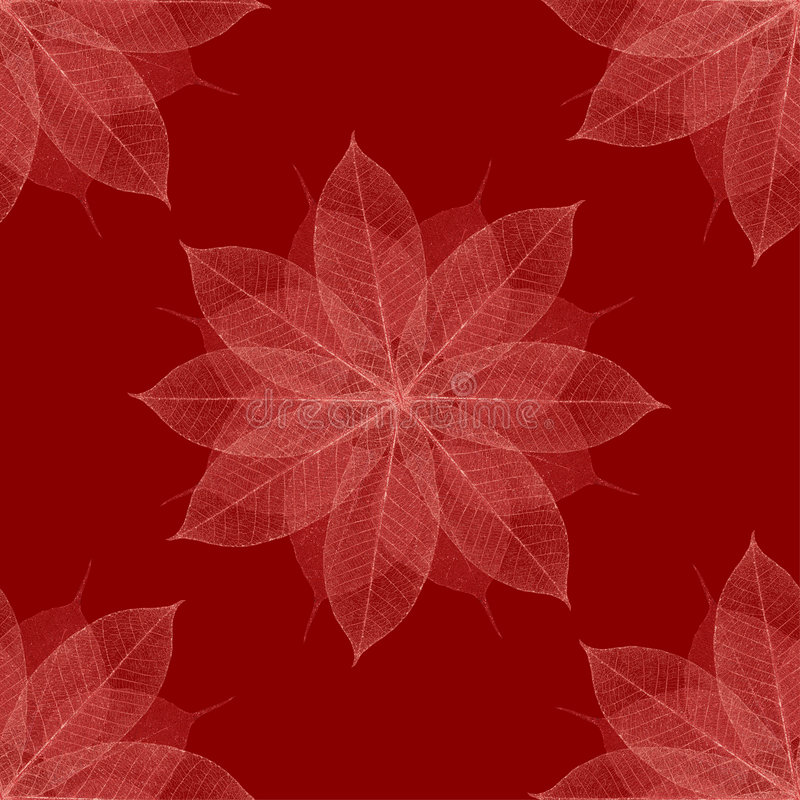 Christmas red floral pattern seamless stock illustration