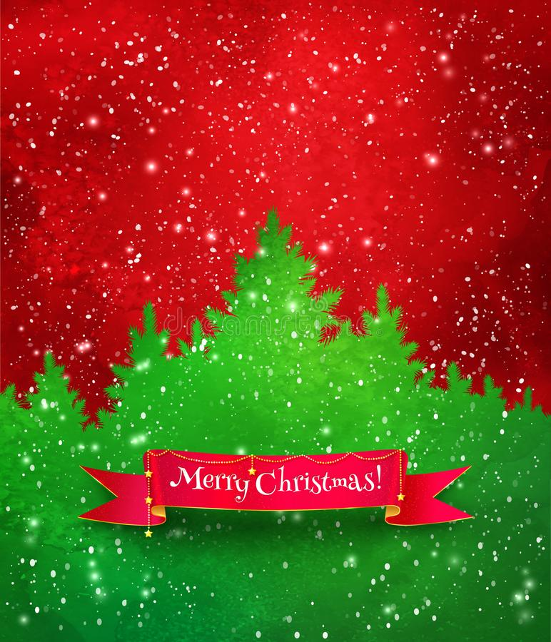 Christmas red and green background royalty free illustration