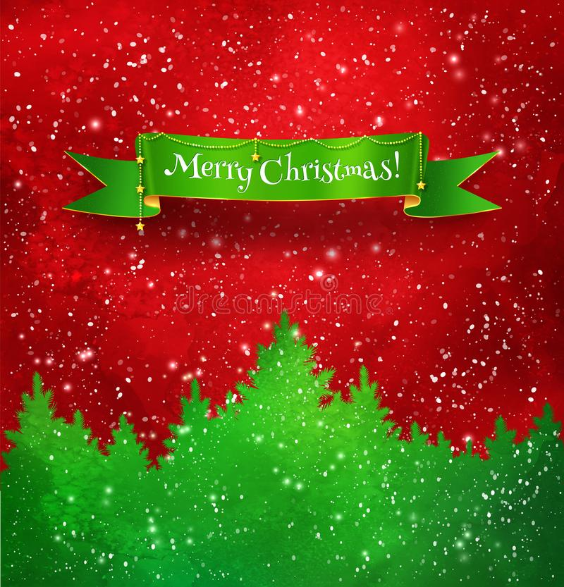 Christmas red and green background stock illustration