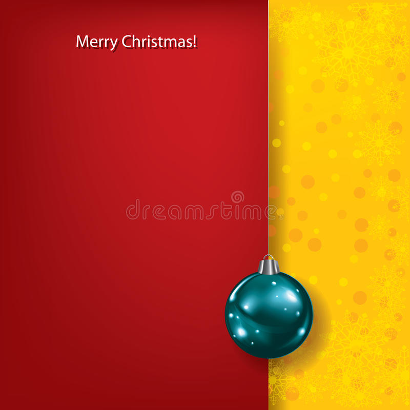 Download Christmas Red Greeting With Blue Ball Stock Vector - Illustration of snowman, celebration: 21996443
