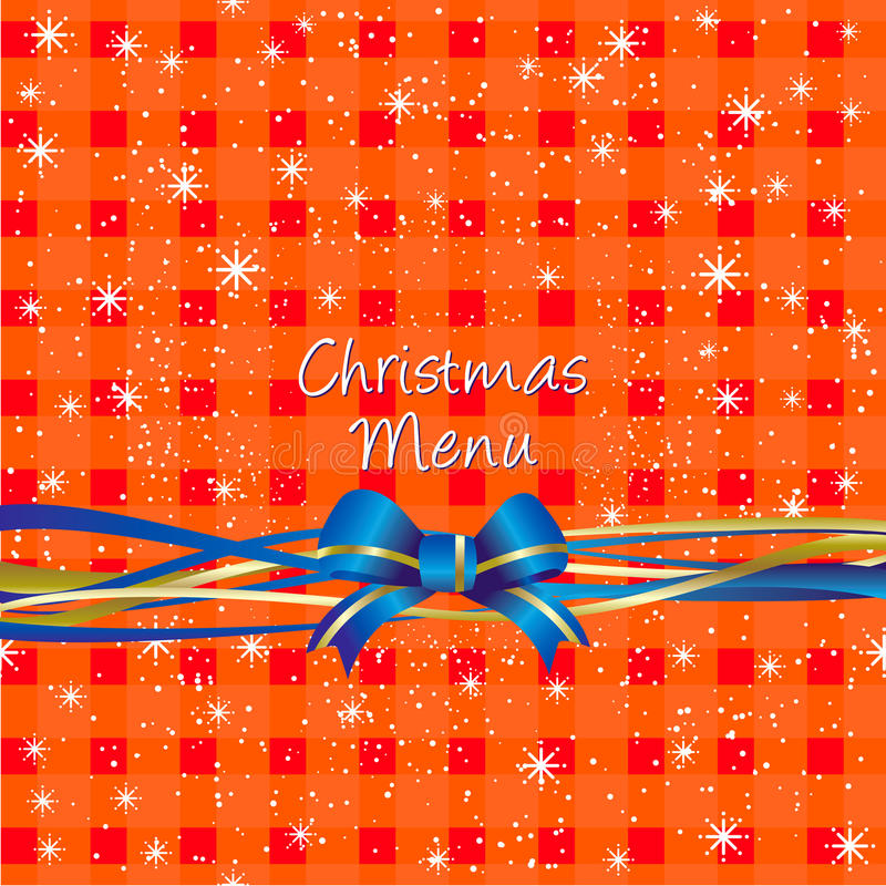 Download Christmas Red Table-cloth Background, Menu Design Stock Vector - Image: 28077034
