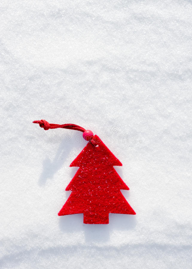 Download Christmas Red Tree Toys At Snow Stock Photo - Image of frost, bright: 33800670