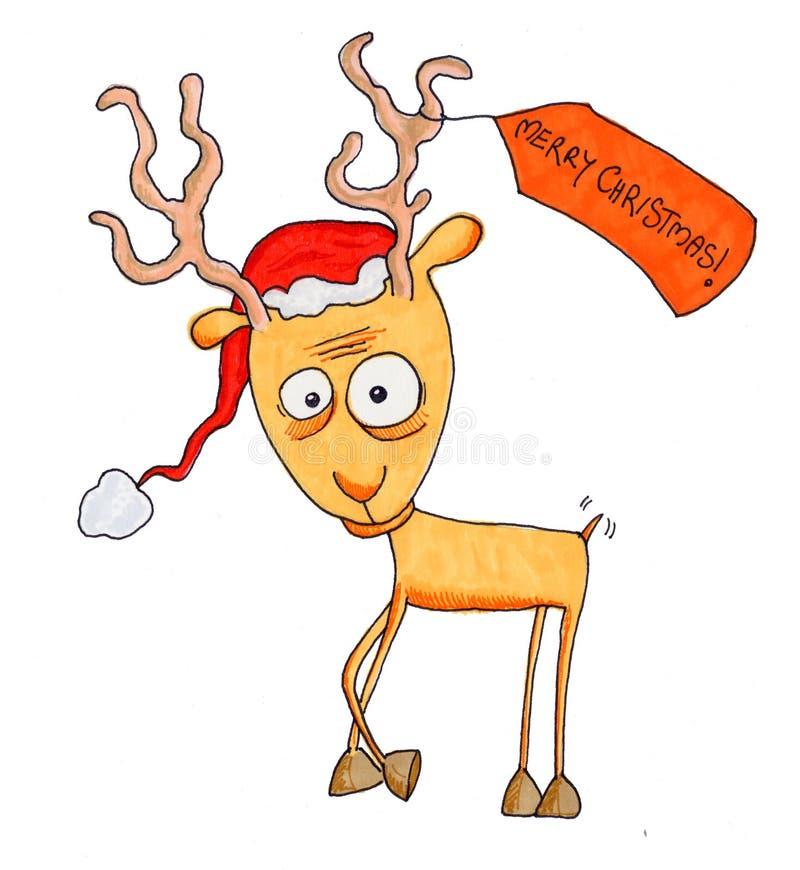 Download Christmas reindeer stock illustration. Image of reindeer - 3672887