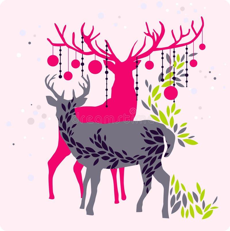Download Christmas reindeer stock vector. Illustration of elements - 9013320