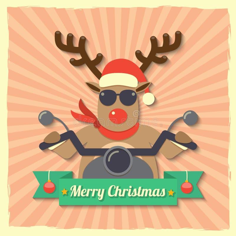 Christmas reindeer background бесплатная иллюстрация