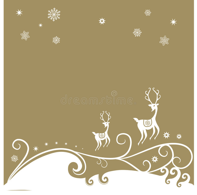 Free Christmas Reindeer Background Stock Photo - 8406930