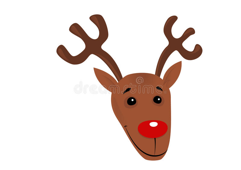 Download Christmas reindeer cartoon stock illustration. Image of face - 34610398