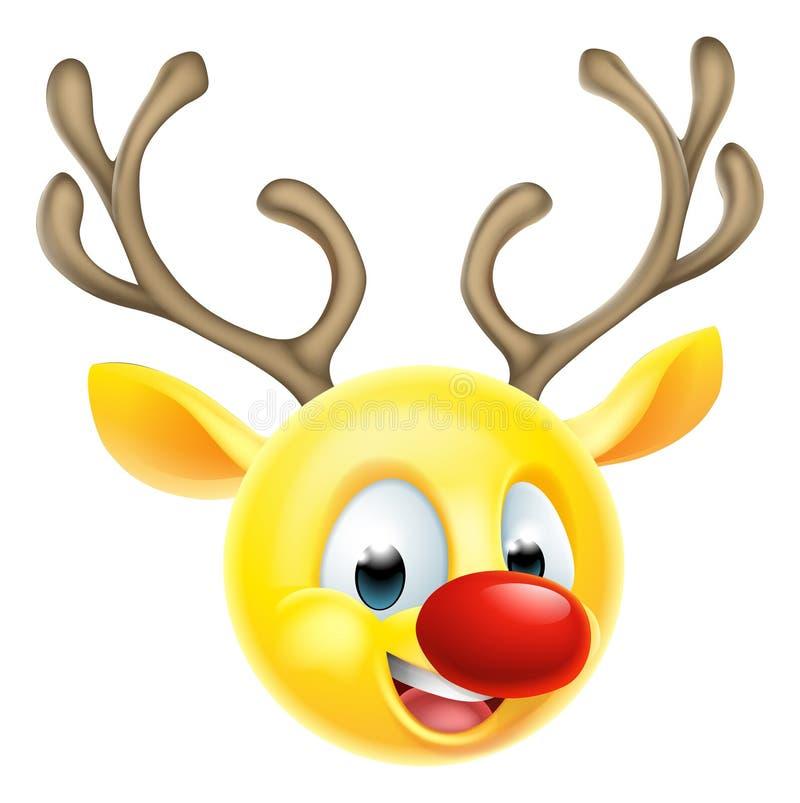 christmas reindeer emoticon emoji stock vector image Santa Claus Elves Snowman Emoji