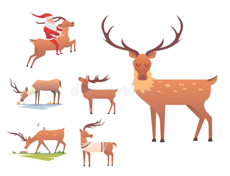 christmas reindeer holiday mammal deer xmas celebration cute