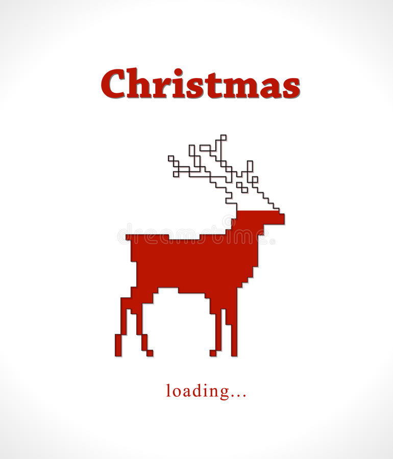 Christmas reindeer progress loading bar royalty free illustration
