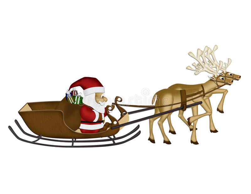Christmas Reindeers Mulberry Paper Stock Photo