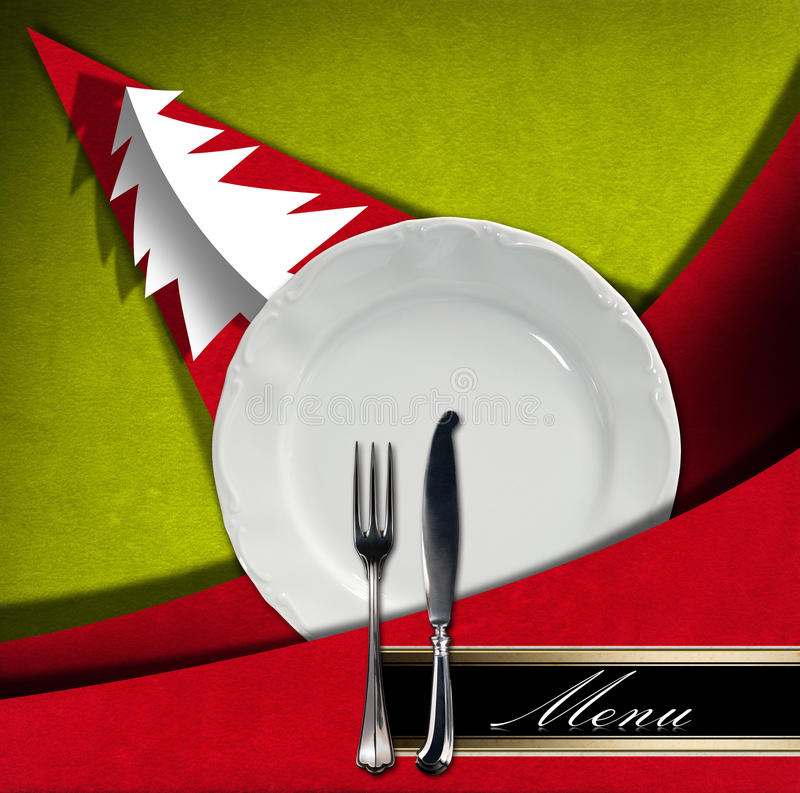 Christmas Restaurant Menu stock illustration
