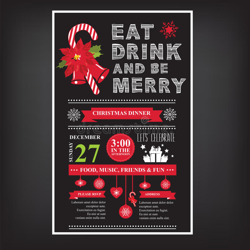Christmas restaurant and party menu invitation stock vector download christmas restaurant and party menu invitation stock vector illustration of party stopboris Images