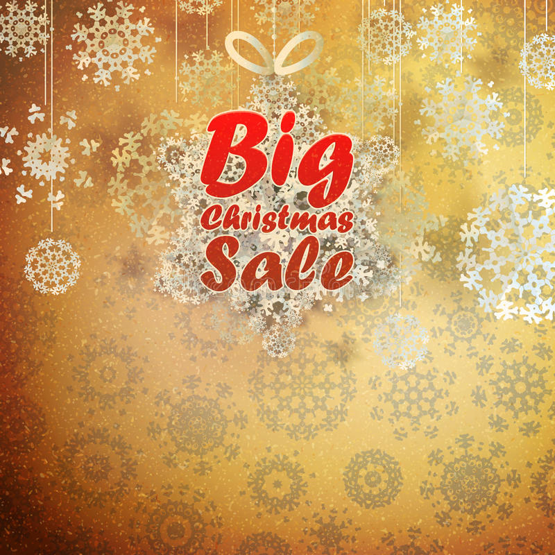 Download Christmas Retro Big Sale With Copy Space. Stock Vector - Image: 32586273