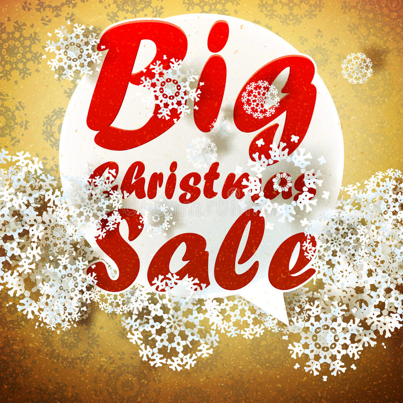 Download Christmas Retro Big Sale With Copy Space. Stock Vector - Image: 32589018
