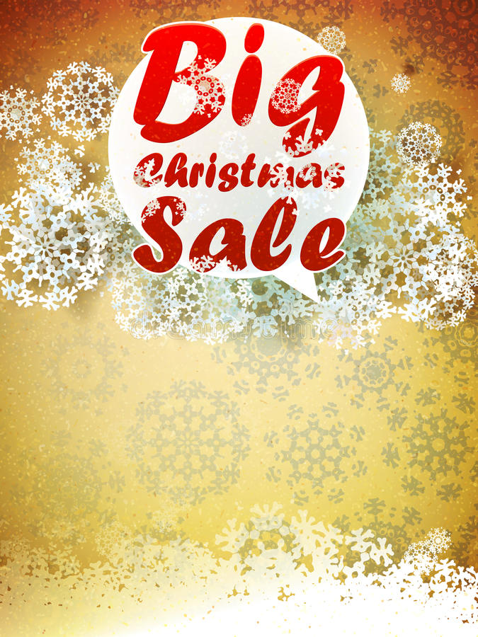 Download Christmas Retro Big Sale With Copy Space. Stock Vector - Image: 32589257