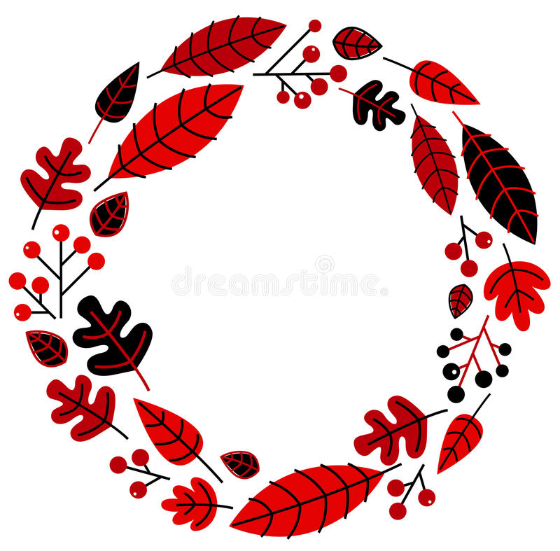 Christmas retro holiday wreath royalty free illustration