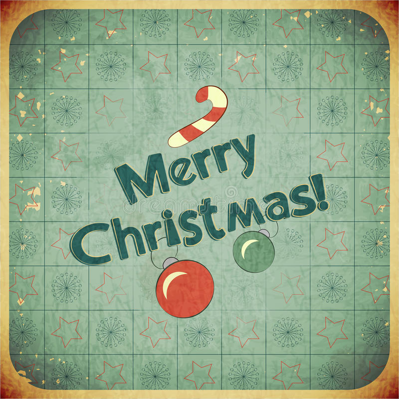 Download Christmas Retro Postcard With Toys Royalty Free Stock Photography - Image: 26289507