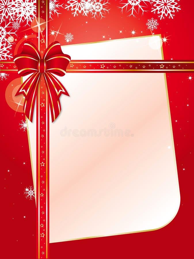 Christmas ribbon royalty free illustration