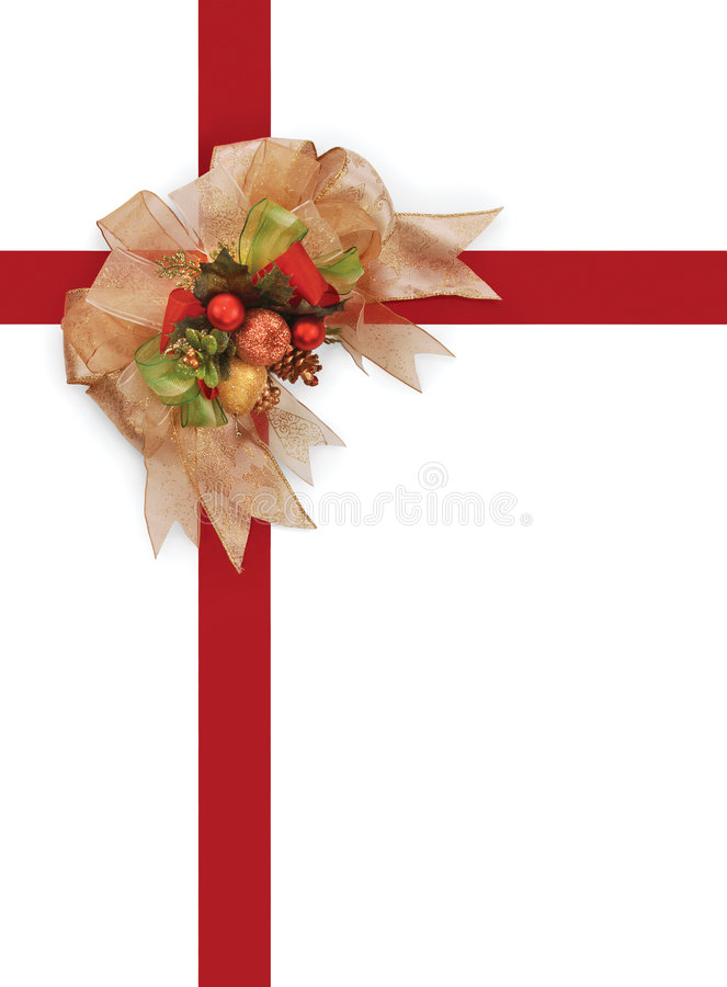 Christmas ribbon & bow royalty free stock photos