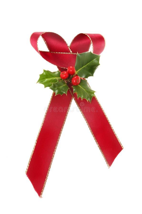 Christmas ribbon decoration stock photography