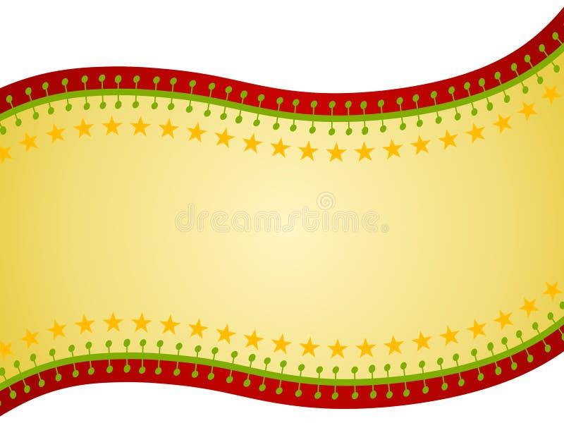 Christmas Ribbon Swoosh Background royalty free stock photography