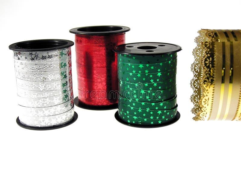 Christmas ribbons stock image