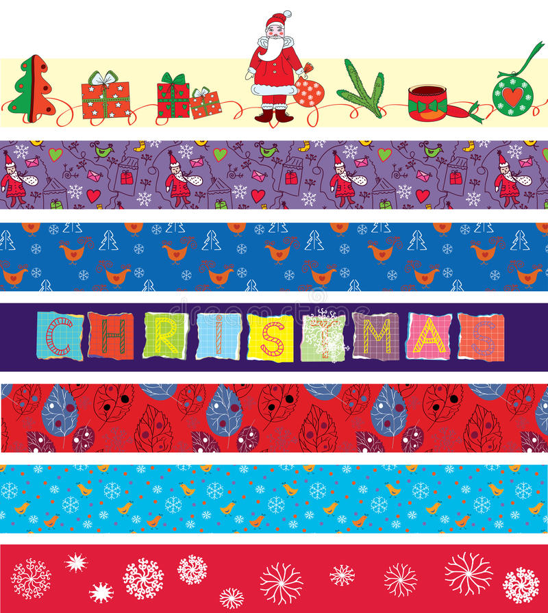Download Christmas ribbons set stock vector. Image of design, santa - 22076611